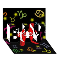 Pisces Floating Zodiac Sign BOY 3D Greeting Card (7x5)
