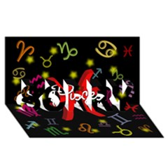 Pisces Floating Zodiac Sign SORRY 3D Greeting Card (8x4)