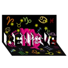 Virgo Floating Zodiac Sign Believe 3d Greeting Card (8x4)