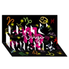 Virgo Floating Zodiac Sign Best Wish 3D Greeting Card (8x4)