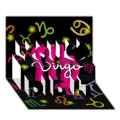 Virgo Floating Zodiac Sign You Did It 3D Greeting Card (7x5)