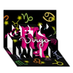 Virgo Floating Zodiac Sign Get Well 3D Greeting Card (7x5)
