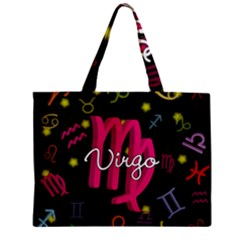 Virgo Floating Zodiac Sign Zipper Tiny Tote Bags