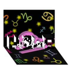 Libra Floating Zodiac Name HOPE 3D Greeting Card (7x5)