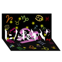 Libra Floating Zodiac Name Party 3d Greeting Card (8x4)