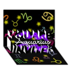 Aquarius Floating Zodiac Name YOU ARE INVITED 3D Greeting Card (7x5)