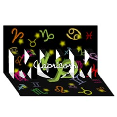Capricorn Floating Zodiac Name MOM 3D Greeting Card (8x4)