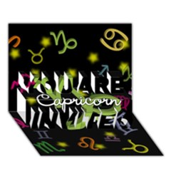 Capricorn Floating Zodiac Name You Are Invited 3d Greeting Card (7x5)
