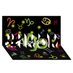Capricorn Floating Zodiac Name #1 MOM 3D Greeting Cards (8x4)