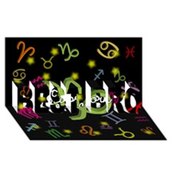 Capricorn Floating Zodiac Name BEST BRO 3D Greeting Card (8x4)