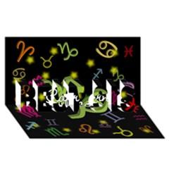 Capricorn Floating Zodiac Name Best Sis 3d Greeting Card (8x4)