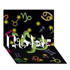 Capricorn Floating Zodiac Name Hope 3d Greeting Card (7x5)