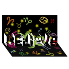 Capricorn Floating Zodiac Name BELIEVE 3D Greeting Card (8x4)