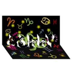 Capricorn Floating Zodiac Name Sorry 3d Greeting Card (8x4)