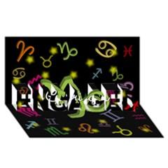 Capricorn Floating Zodiac Name Engaged 3d Greeting Card (8x4)