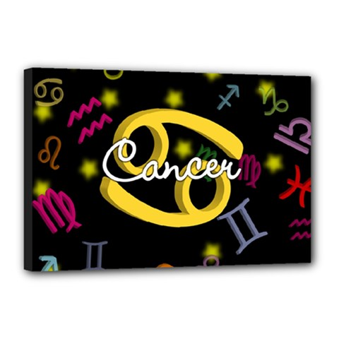Cancer Floating Zodiac Name Canvas 18  x 12