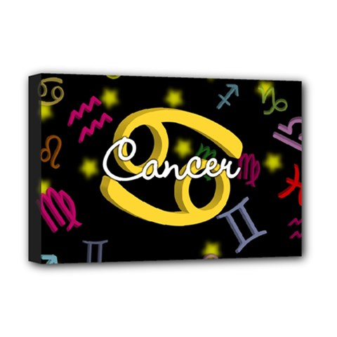 Cancer Floating Zodiac Name Deluxe Canvas 18  x 12