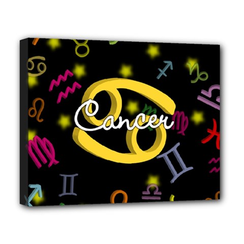 Cancer Floating Zodiac Name Deluxe Canvas 20  x 16