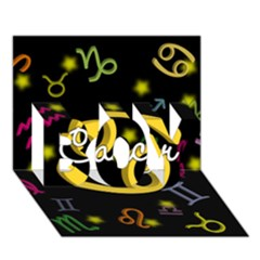 Cancer Floating Zodiac Name Boy 3d Greeting Card (7x5)