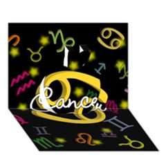 Cancer Floating Zodiac Name Apple 3d Greeting Card (7x5)