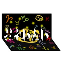 Cancer Floating Zodiac Name #1 DAD 3D Greeting Card (8x4)