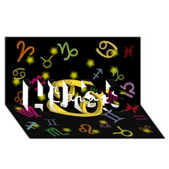 Cancer Floating Zodiac Name Hugs 3d Greeting Card (8x4)