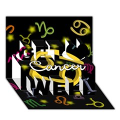 Cancer Floating Zodiac Name Get Well 3D Greeting Card (7x5)