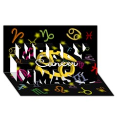 Cancer Floating Zodiac Name Merry Xmas 3D Greeting Card (8x4)