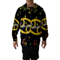 Cancer Floating Zodiac Name Hooded Wind Breaker (Kids)