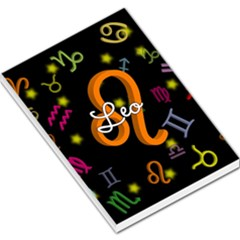Leo Floating Zodiac Name Large Memo Pads