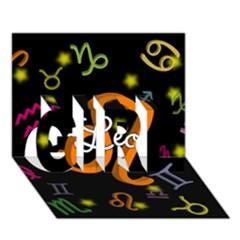 Leo Floating Zodiac Name Girl 3d Greeting Card (7x5)