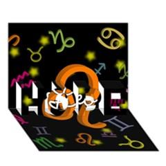 Leo Floating Zodiac Name HOPE 3D Greeting Card (7x5)