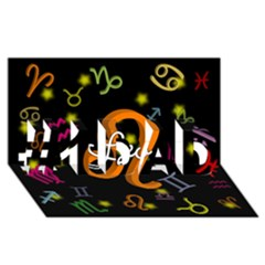 Leo Floating Zodiac Name #1 DAD 3D Greeting Card (8x4)