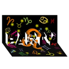 Leo Floating Zodiac Name PARTY 3D Greeting Card (8x4)