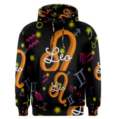 Leo Floating Zodiac Name Men s Pullover Hoodies