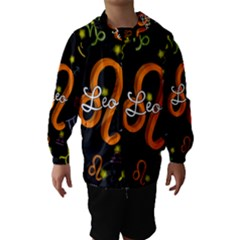 Leo Floating Zodiac Name Hooded Wind Breaker (kids)