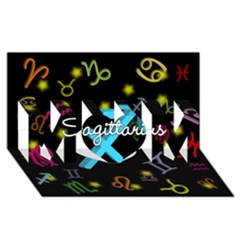 Sagittarius Floating Zodiac Name MOM 3D Greeting Card (8x4)