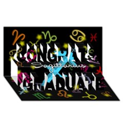 Sagittarius Floating Zodiac Name Congrats Graduate 3d Greeting Card (8x4)