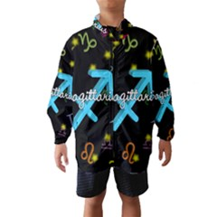 Sagittarius Floating Zodiac Name Wind Breaker (kids)