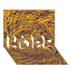 Happy Hot HOPE 3D Greeting Card (7x5)