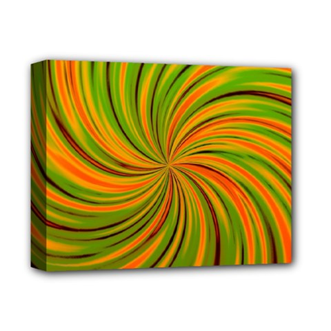 Happy Green Orange Deluxe Canvas 14  x 11