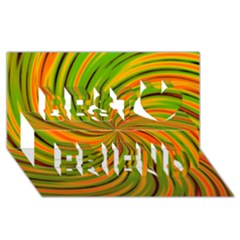Happy Green Orange Best Friends 3d Greeting Card (8x4)