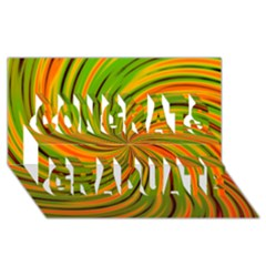Happy Green Orange Congrats Graduate 3D Greeting Card (8x4)