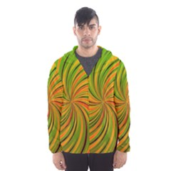Happy Green Orange Hooded Wind Breaker (men)