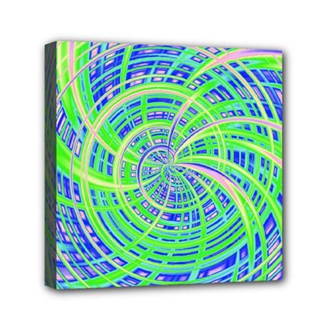 Happy Green Mini Canvas 6  x 6