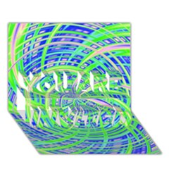 Happy Green YOU ARE INVITED 3D Greeting Card (7x5)