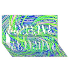 Happy Green Congrats Graduate 3d Greeting Card (8x4)