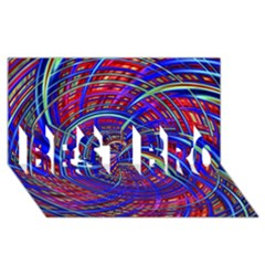 Happy Red Blue Best Bro 3d Greeting Card (8x4)