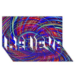 Happy Red Blue Believe 3d Greeting Card (8x4)