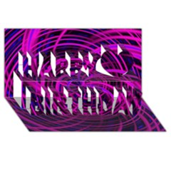 Happy, Black Pink Happy Birthday 3D Greeting Card (8x4)
